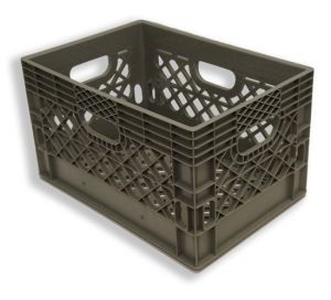 Rectangle Milk Crates Grey (24 quart)