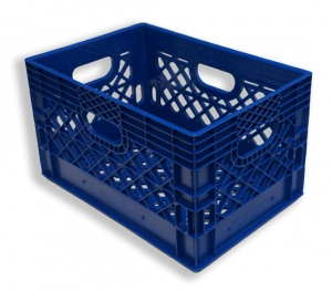 Rectangle Milk Crates Blue (24 quart)