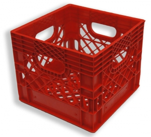 Square Milk Crate Red (16 quart)