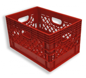 Rectangle Milk Crates Red (24 quart)