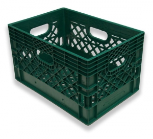 Rectangle Milk Crates Green (24 quart)