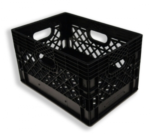 Rectangle Milk Crates Black (24 quart)