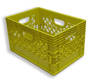 Rectangle Milk Crates Yellow (24 quart)