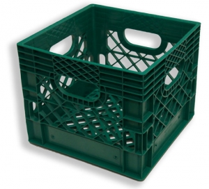 Square Milk Crate Green (16 quart)