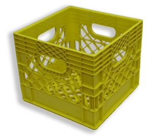 Square Milk Crate Yellow (16 quart)
